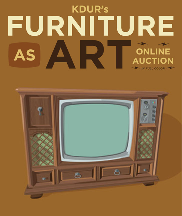 Furniture as Art online auction & fundraiser for KDUR community radio